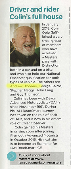 Article from IAM RoadSmart's Spring/Summer 2018 Magazine, Page 9