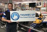 Racing Heroes give the 'Thumbs Up' to IAM RoadSmart campaign to increase courtesy on the roads